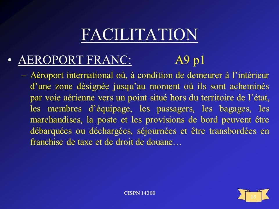 FACILITATION AEROPORT FRANC: A9 p1
