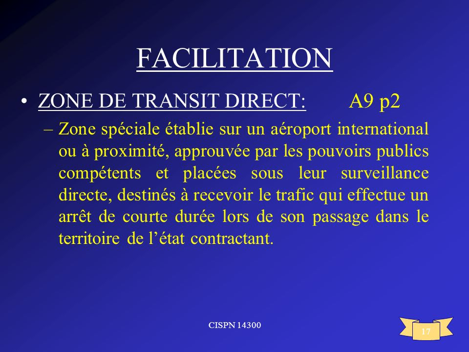 FACILITATION ZONE DE TRANSIT DIRECT: A9 p2