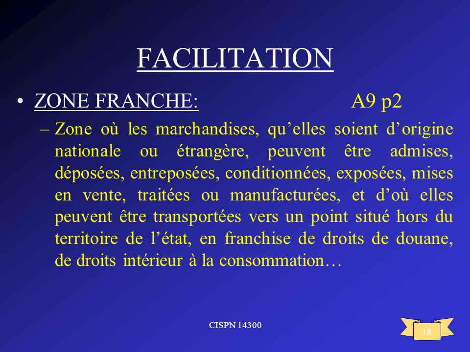 FACILITATION ZONE FRANCHE: A9 p2
