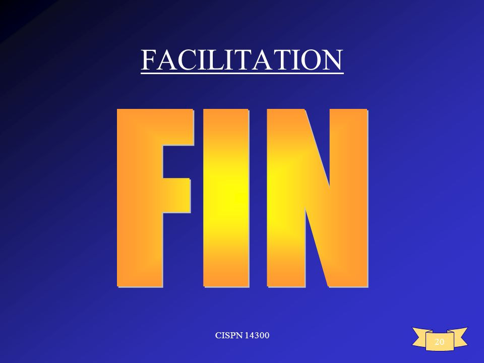 FACILITATION FIN CISPN 14300