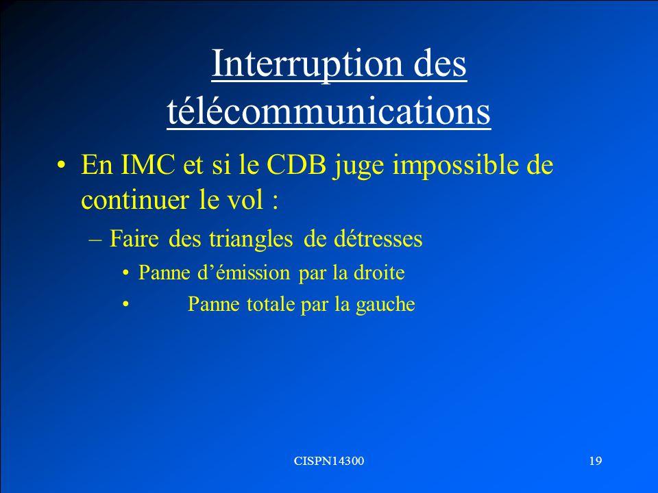 Interruption des télécommunications