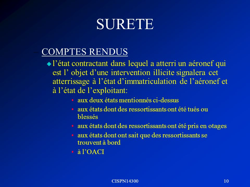 SURETE COMPTES RENDUS.