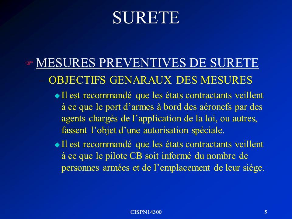 SURETE MESURES PREVENTIVES DE SURETE OBJECTIFS GENARAUX DES MESURES