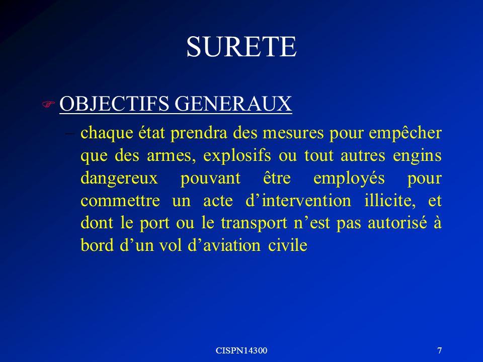 SURETE OBJECTIFS GENERAUX