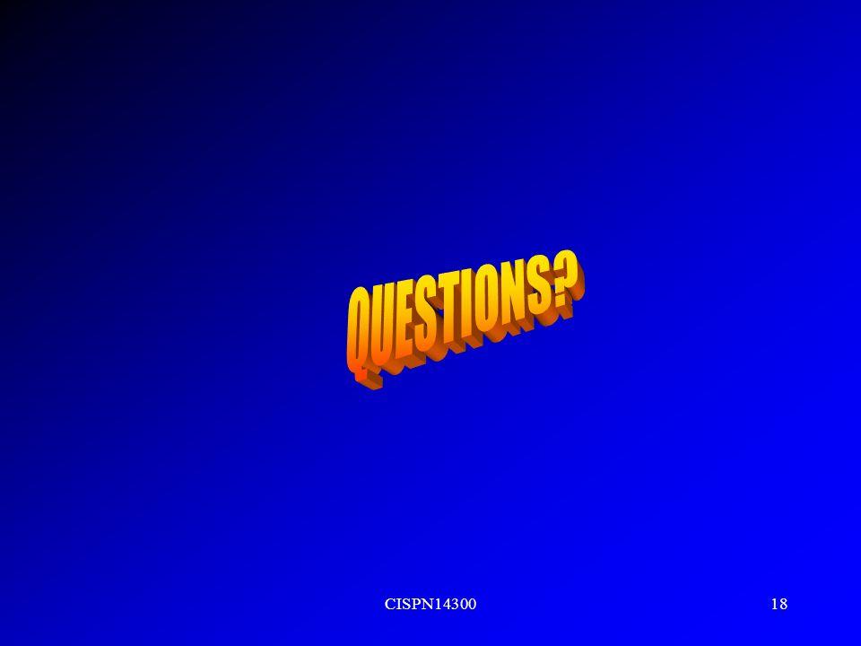 QUESTIONS CISPN14300