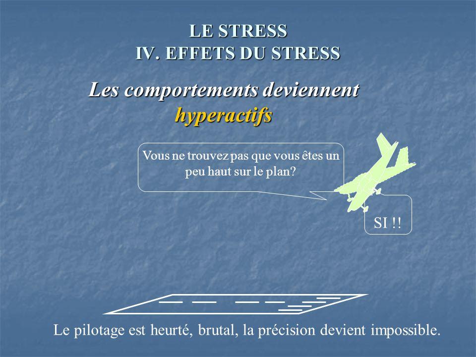 LE STRESS IV. EFFETS DU STRESS