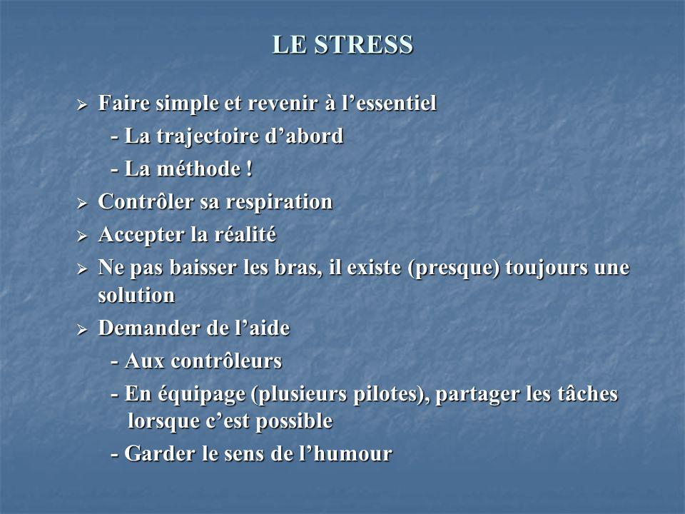 LE STRESS Faire simple et revenir à l'essentiel