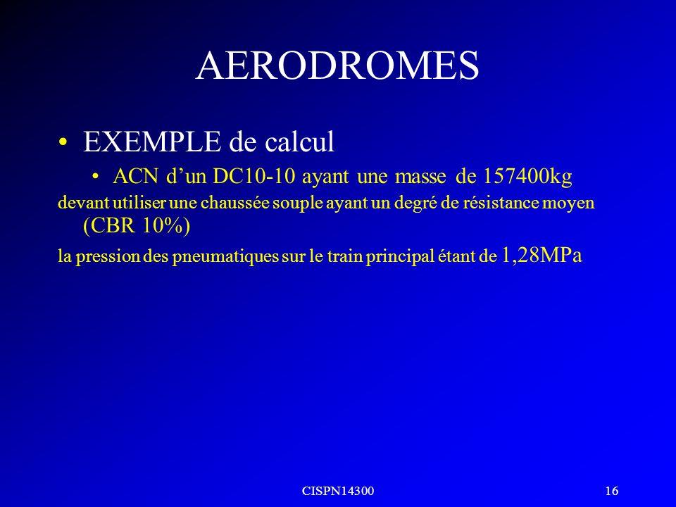 AERODROMES EXEMPLE de calcul