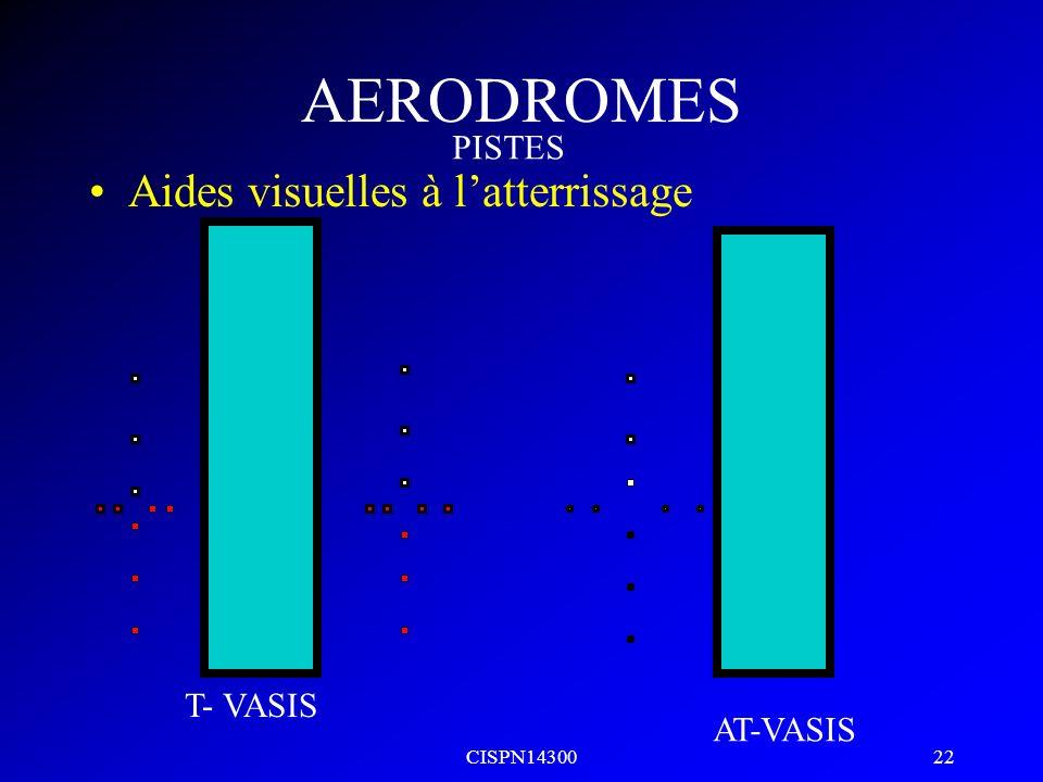 AERODROMES Aides visuelles à l'atterrissage PISTES T- VASIS AT-VASIS