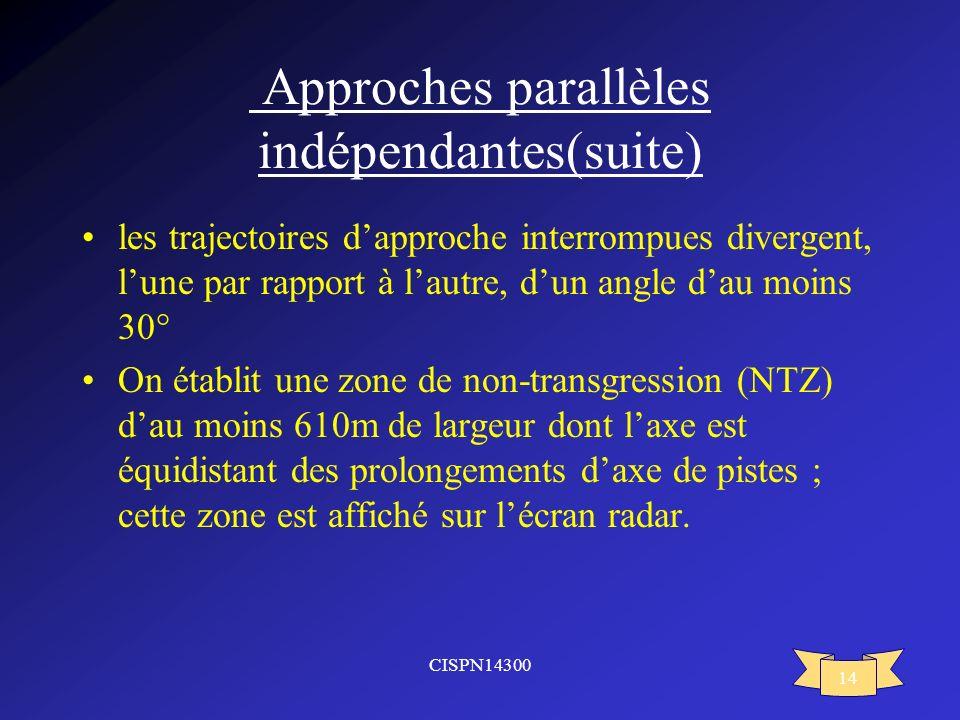 Approches parallèles indépendantes(suite)