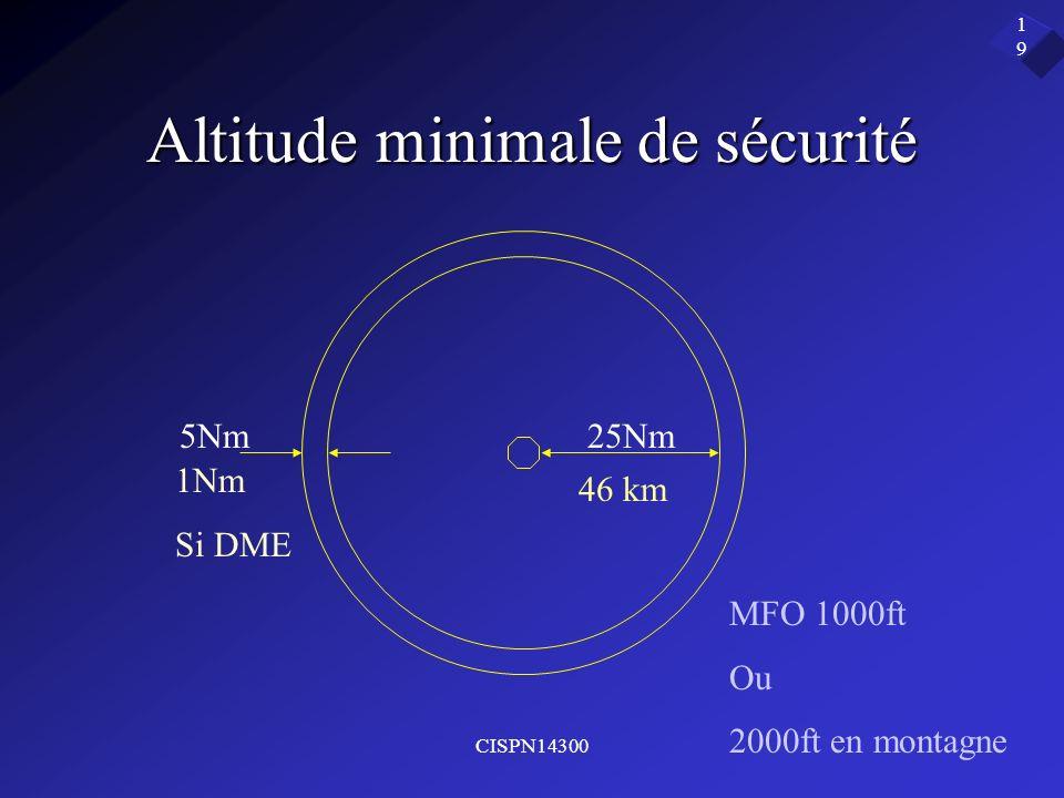 Altitude minimale de sécurité