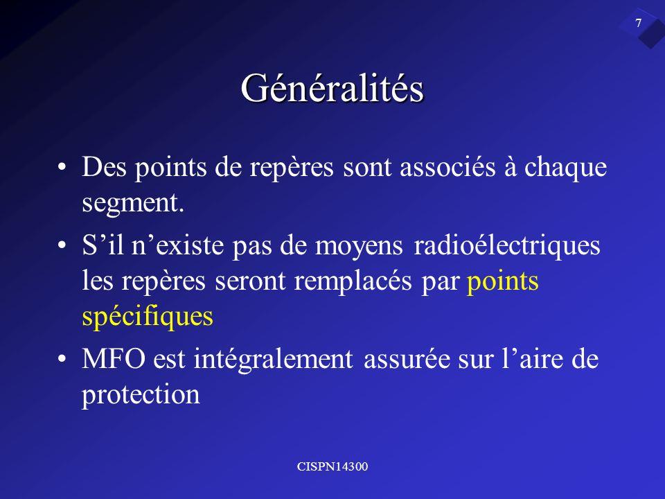 Généralités Des points de repères sont associés à chaque segment.