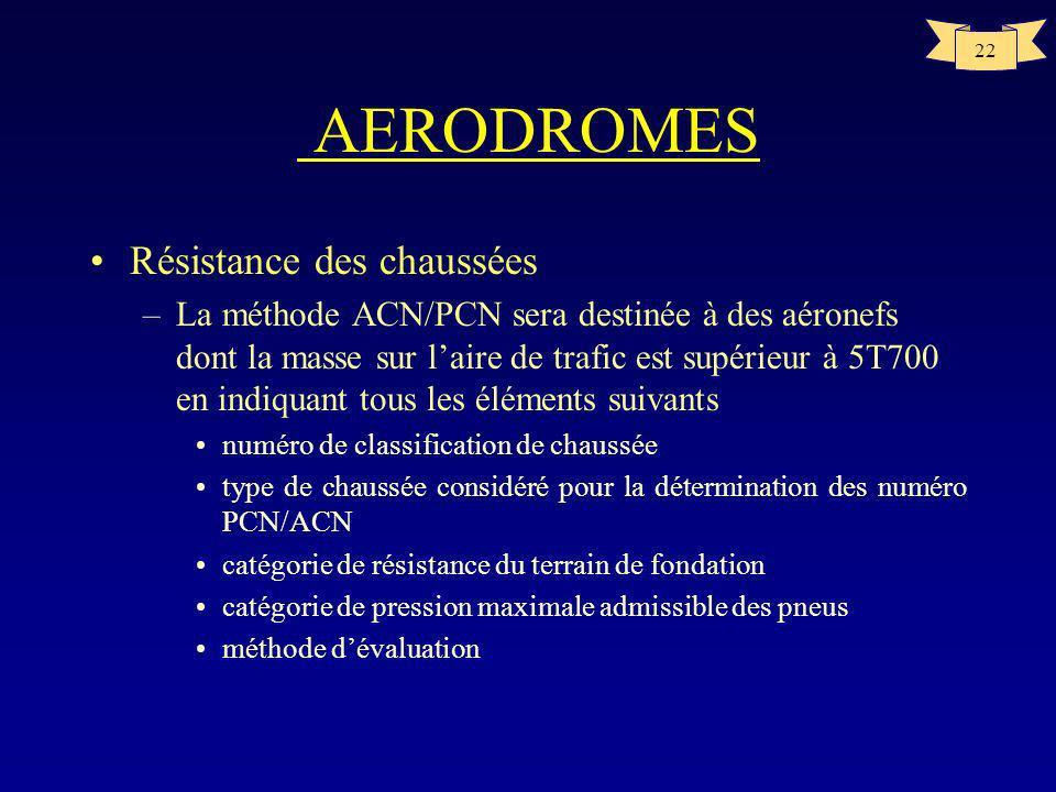 AERODROMES Résistance des chaussées