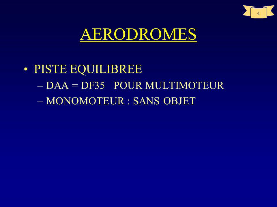 AERODROMES PISTE EQUILIBREE DAA = DF35 POUR MULTIMOTEUR