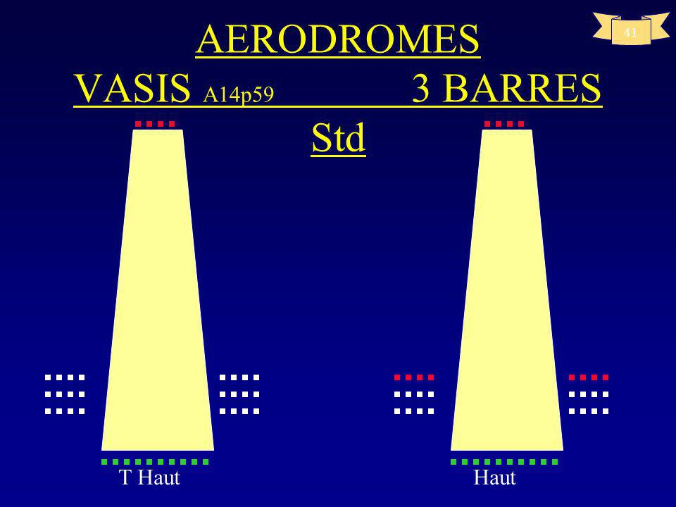 AERODROMES VASIS A14p59 3 BARRES Std