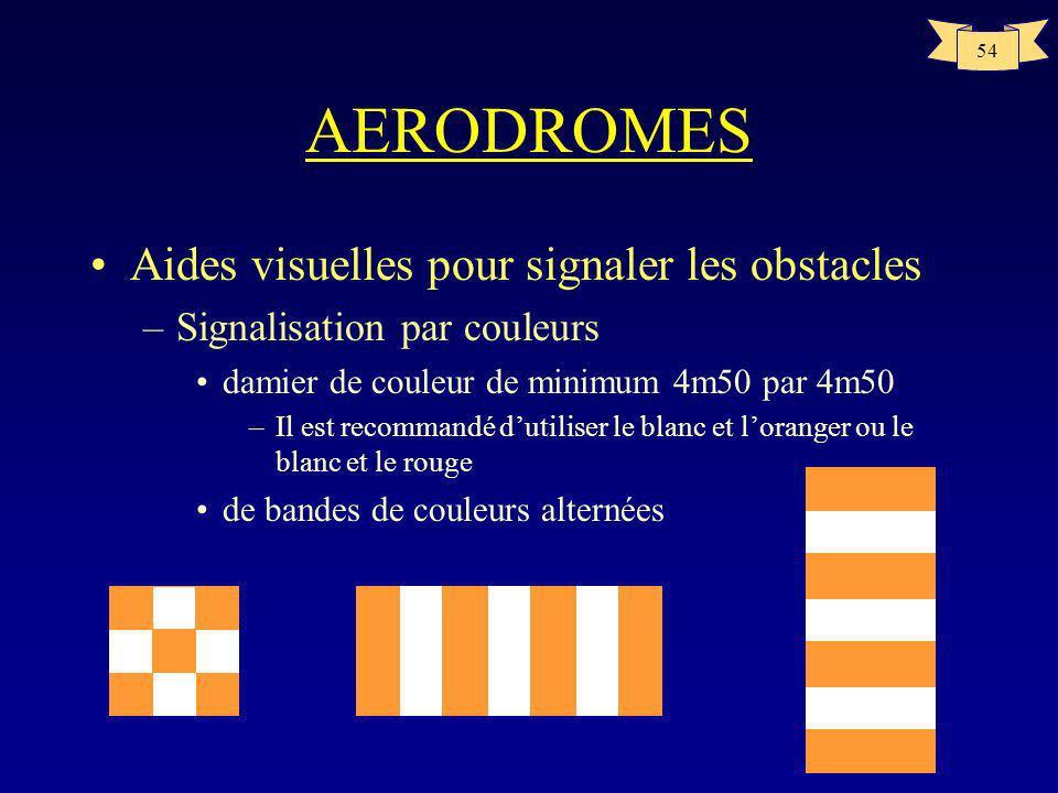 AERODROMES Aides visuelles pour signaler les obstacles