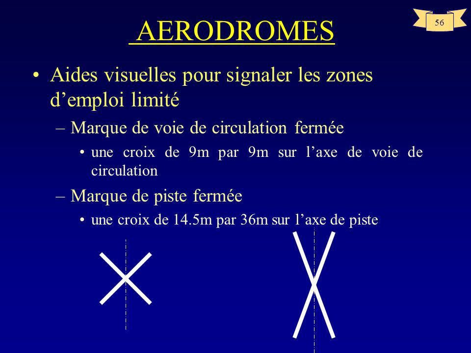 AERODROMES Aides visuelles pour signaler les zones d'emploi limité