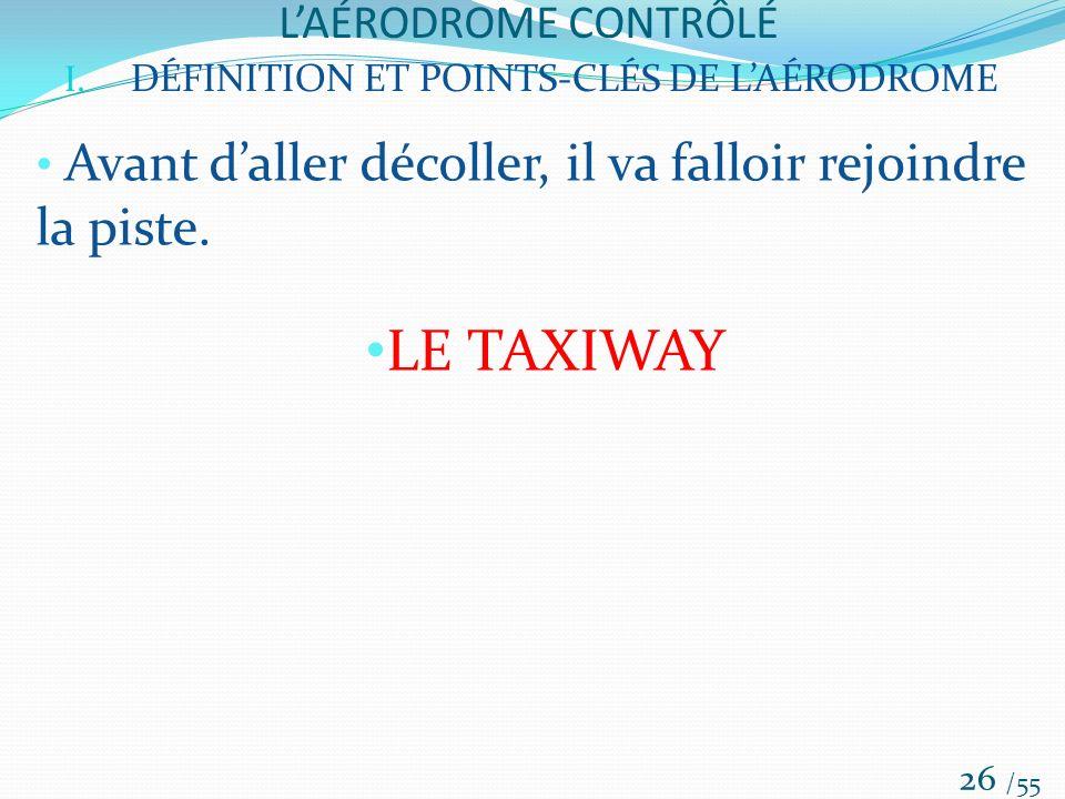 LE TAXIWAY L'AÉRODROME CONTRÔLÉ