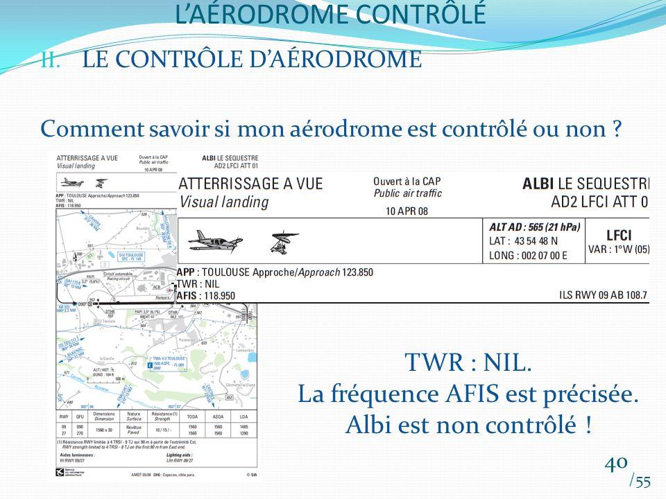 La fréquence AFIS est précisée.