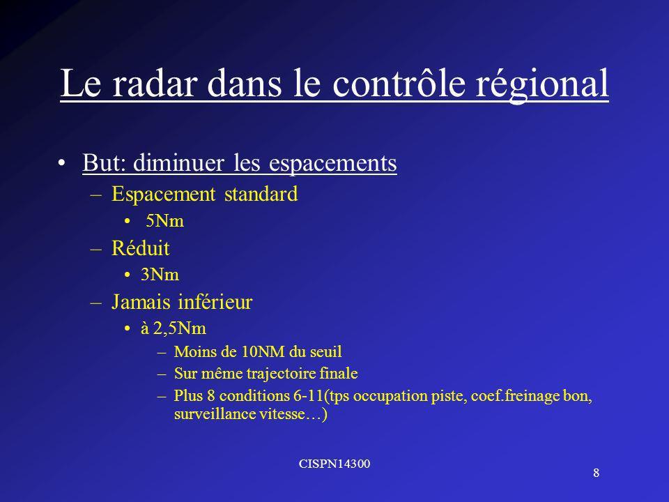 Le radar dans le contrôle régional