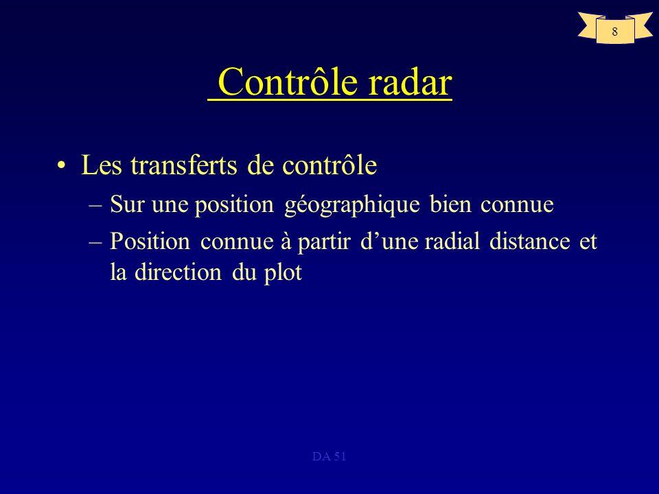 Contrôle radar Les transferts de contrôle