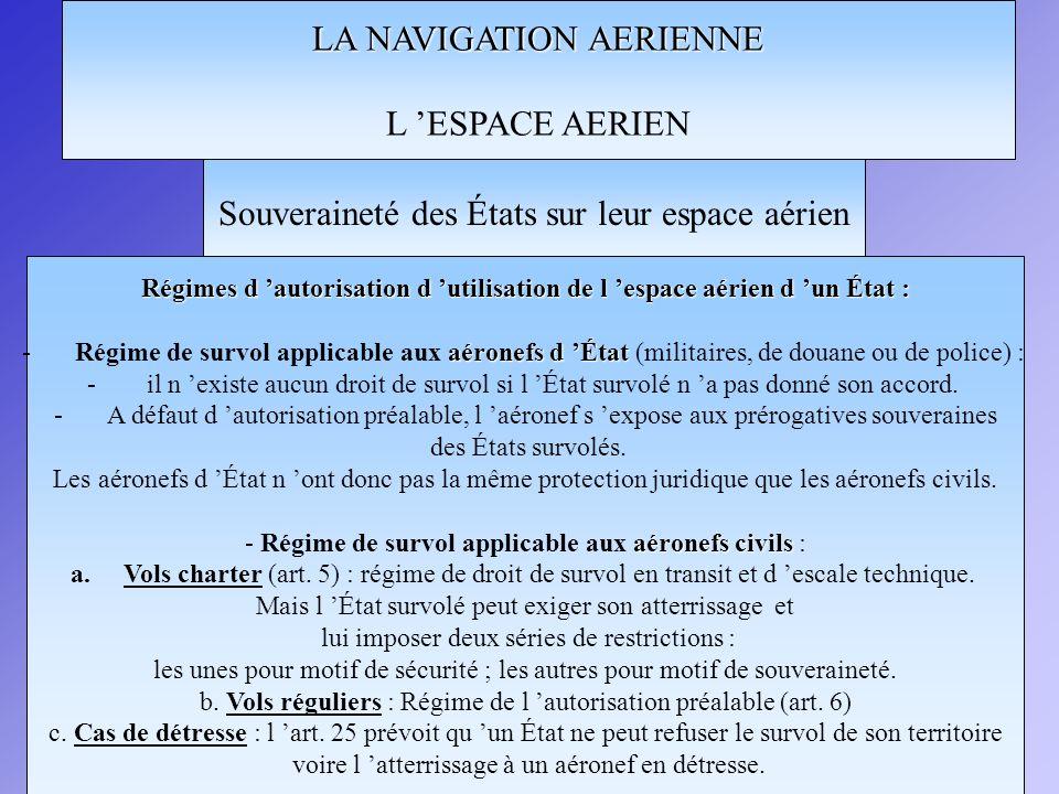 LA NAVIGATION AERIENNE L 'ESPACE AERIEN
