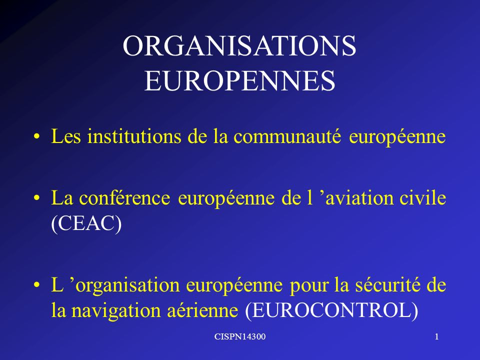 ORGANISATIONS EUROPENNES