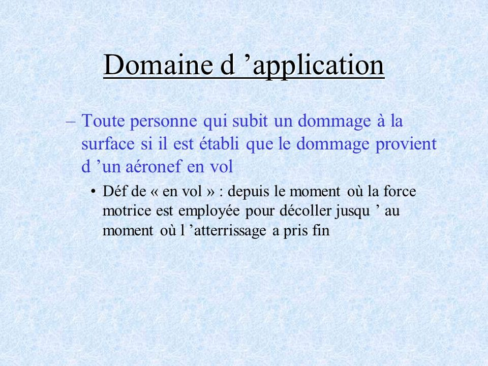Domaine d 'application