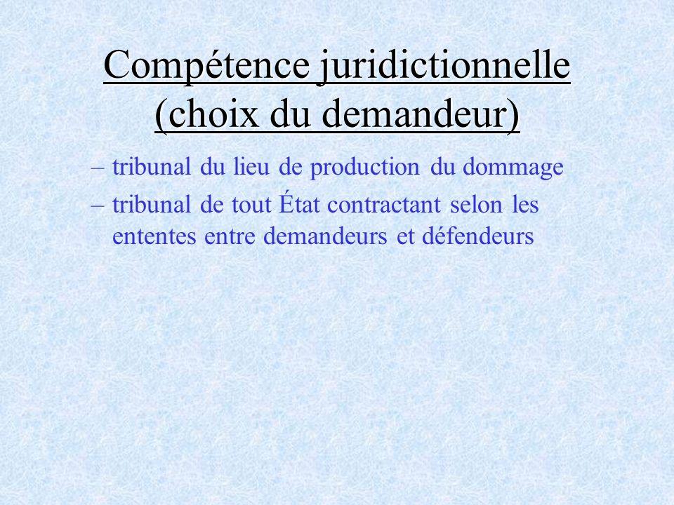 Compétence juridictionnelle (choix du demandeur)