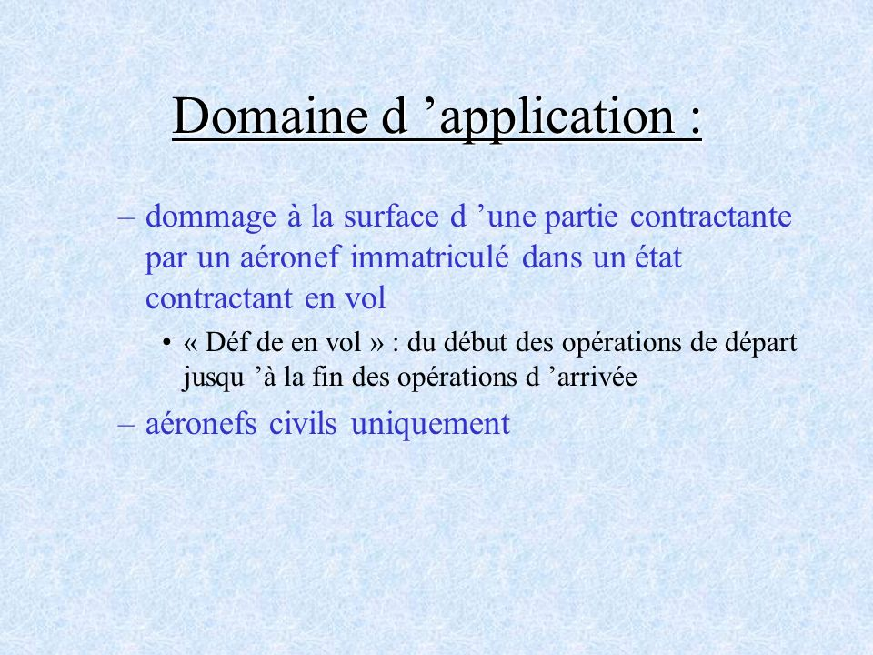 Domaine d 'application :