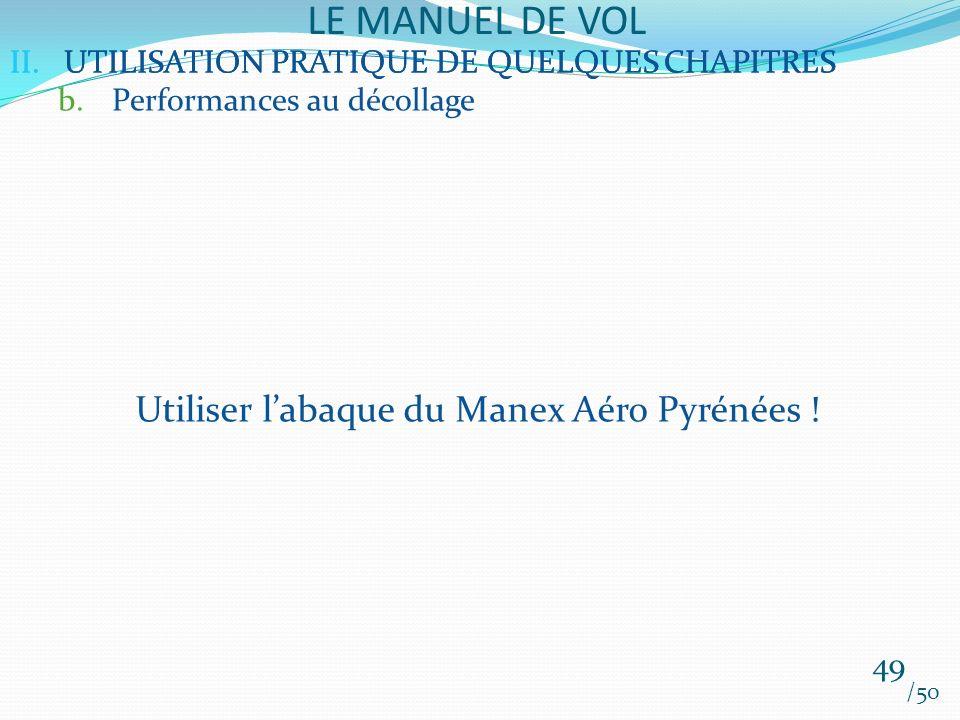 Utiliser l'abaque du Manex Aéro Pyrénées !