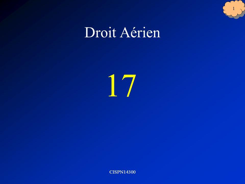 Droit Aérien 17 CISPN14300