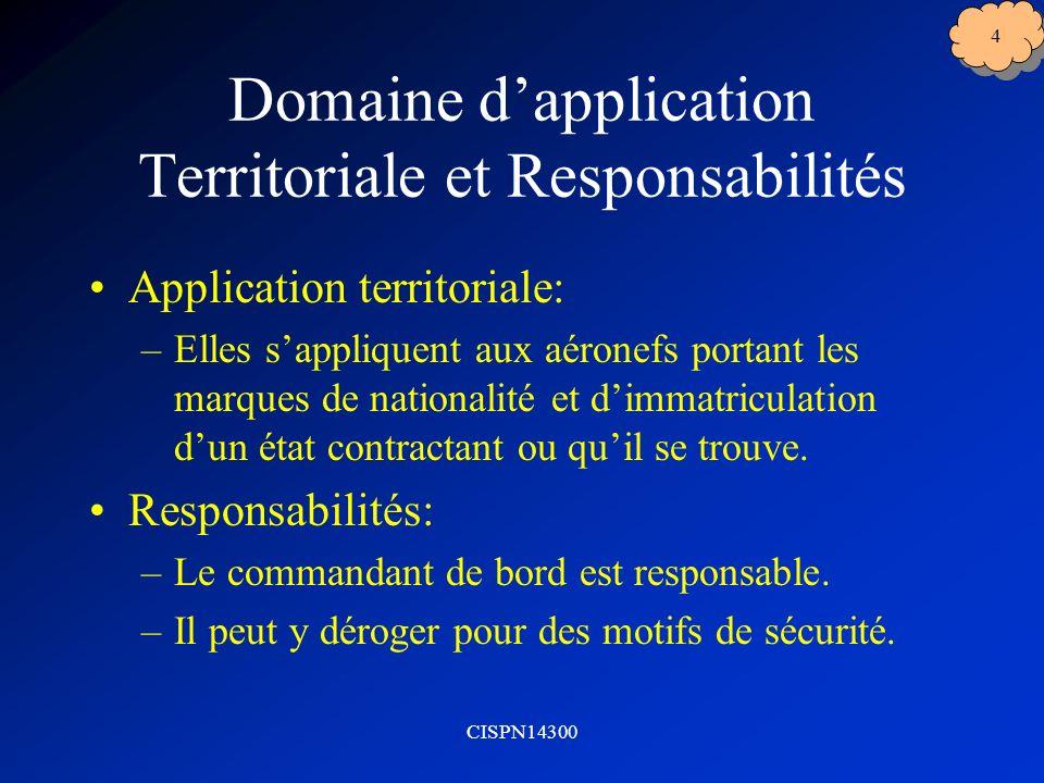 Domaine d'application Territoriale et Responsabilités