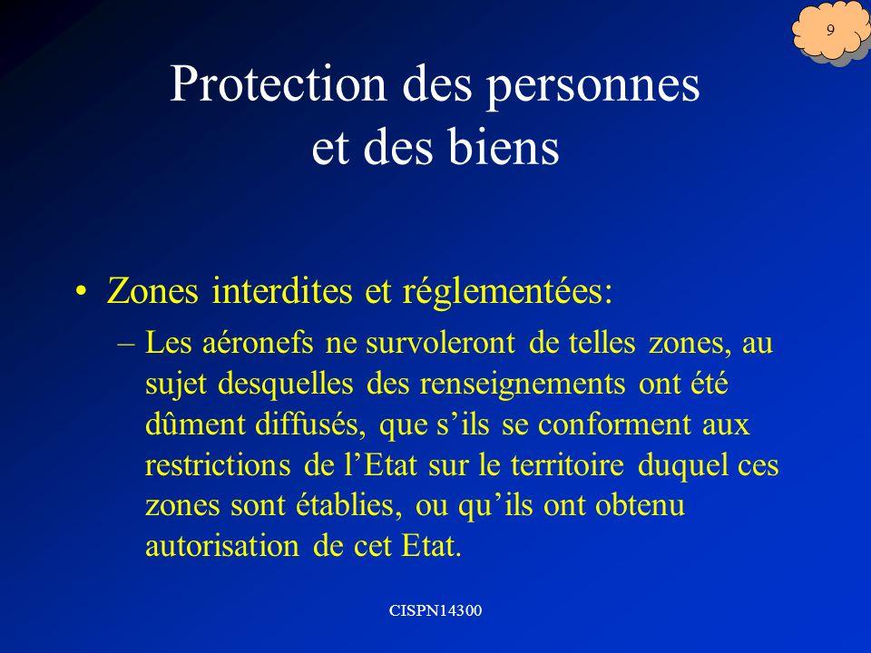Protection des personnes et des biens