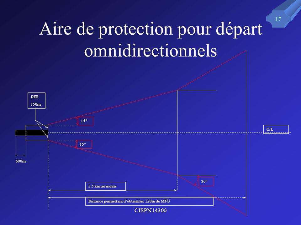 Aire de protection pour départ omnidirectionnels