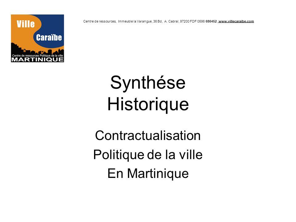 Contractualisation Politique de la ville En Martinique