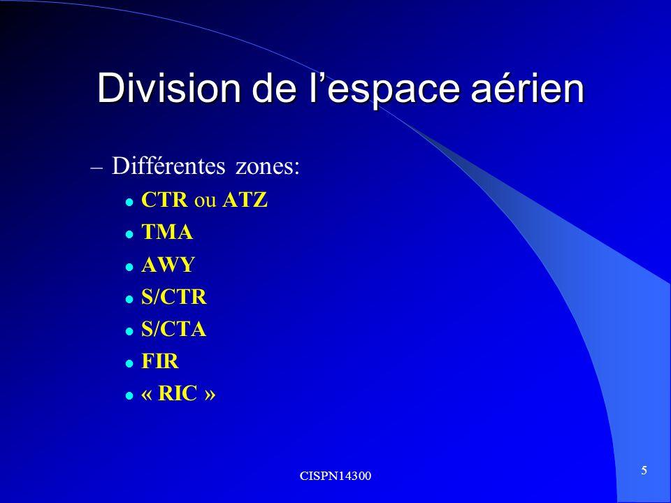Division de l'espace aérien