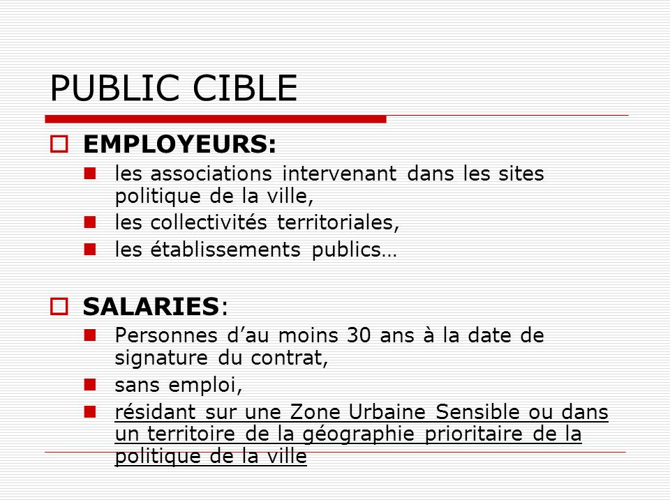 PUBLIC CIBLE EMPLOYEURS: SALARIES: