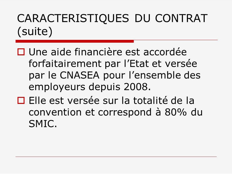CARACTERISTIQUES DU CONTRAT (suite)