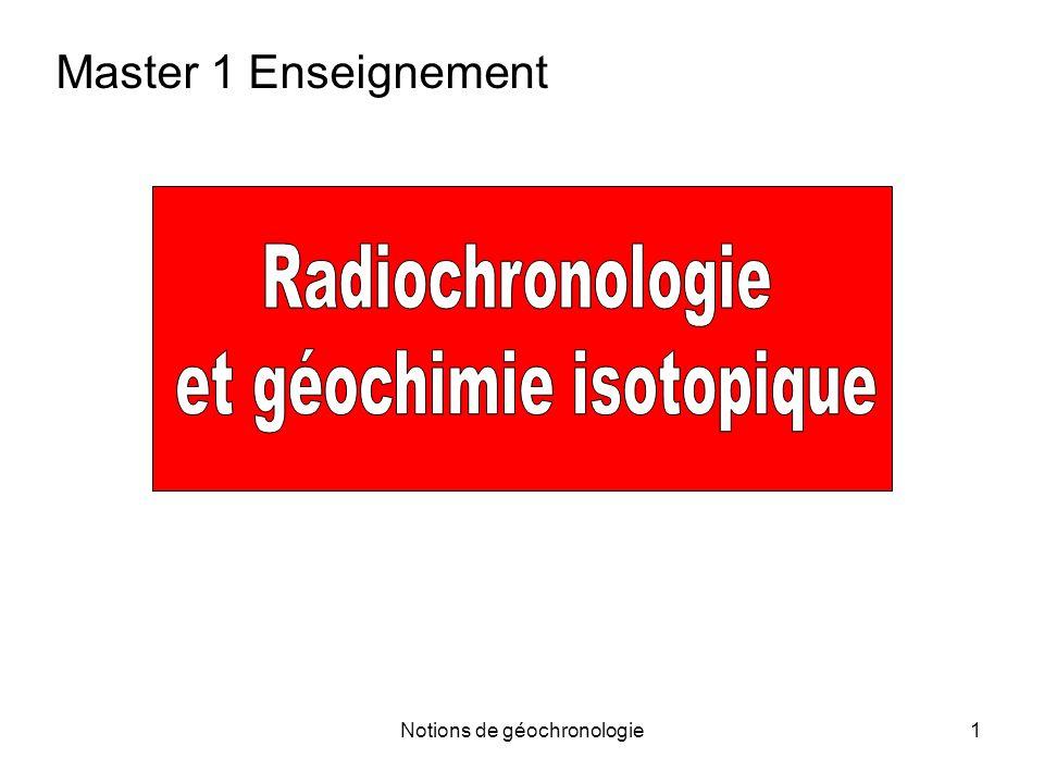 et géochimie isotopique