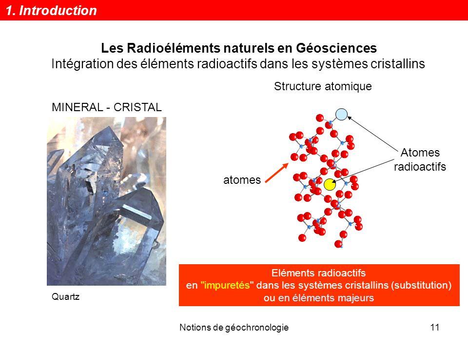 Les Radioéléments naturels en Géosciences