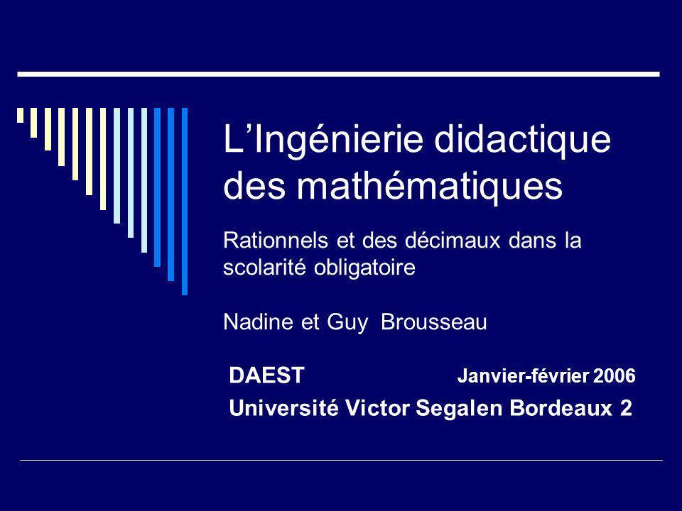 DAEST Janvier-février 2006 Université Victor Segalen Bordeaux 2