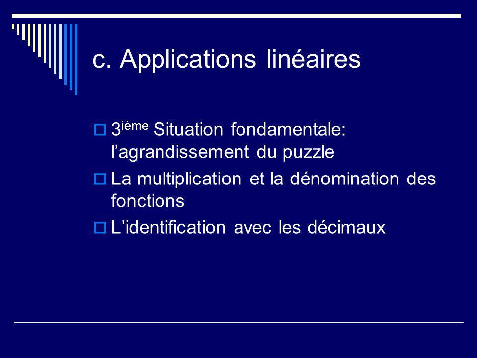 c. Applications linéaires