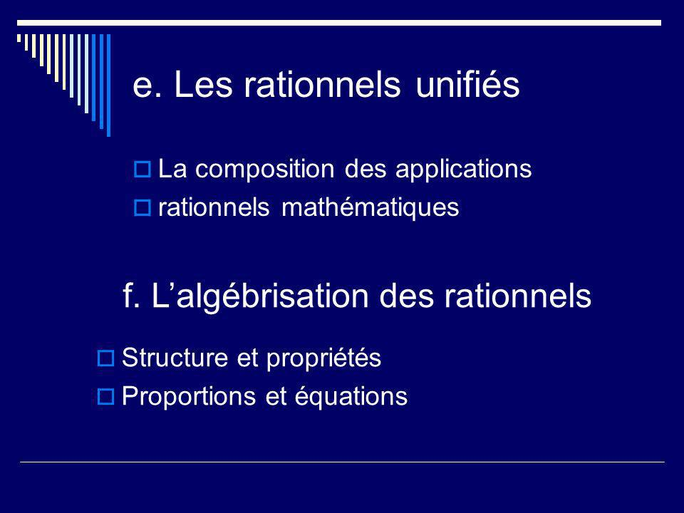 e. Les rationnels unifiés