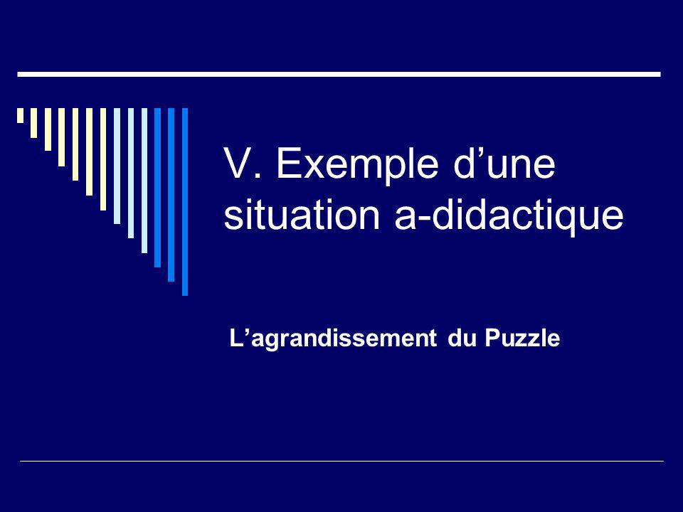 V. Exemple d'une situation a-didactique