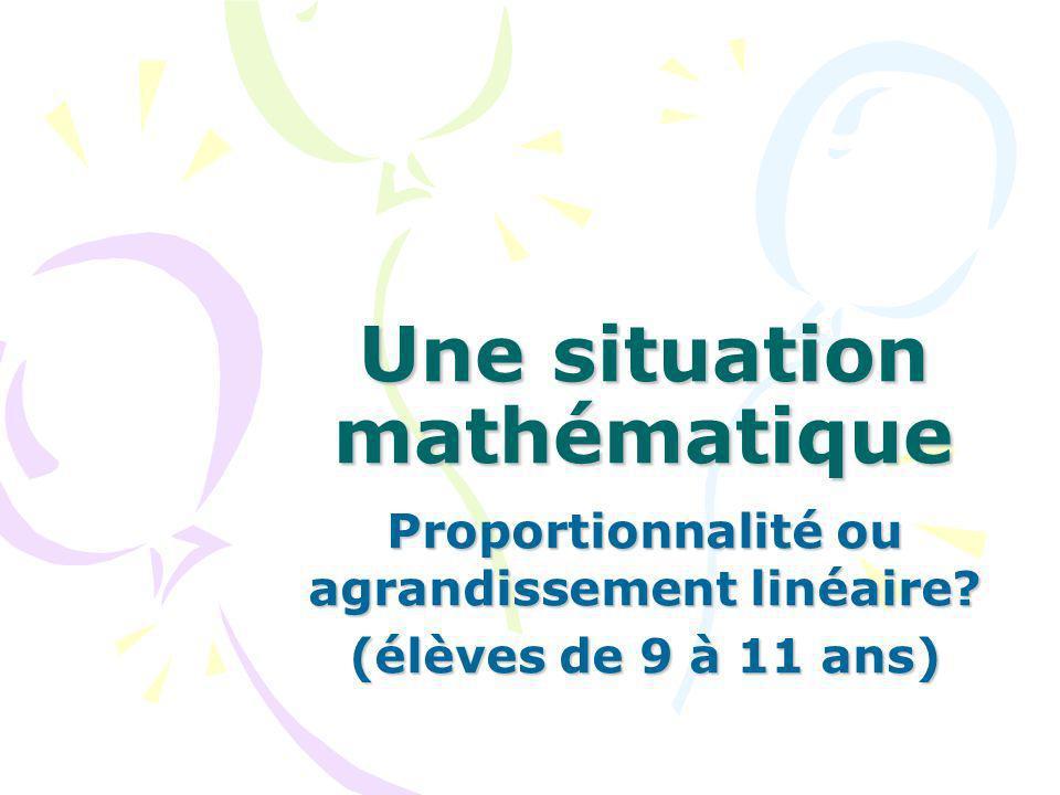 Une situation mathématique