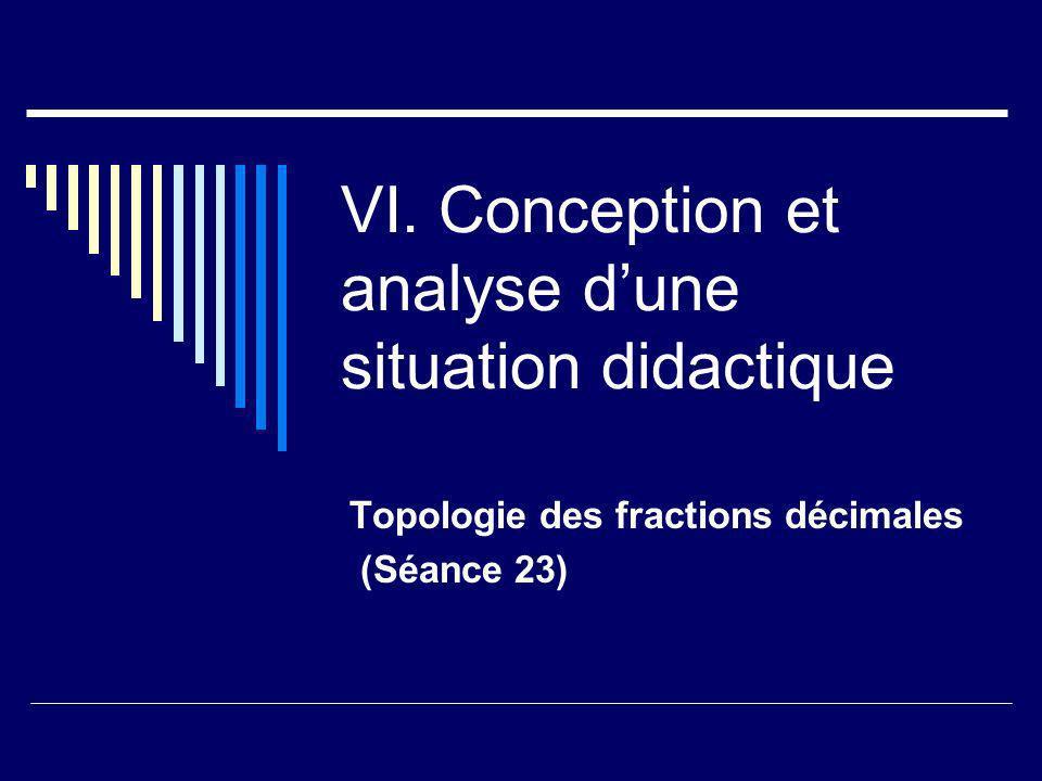 VI. Conception et analyse d'une situation didactique