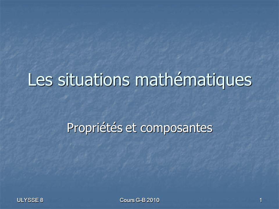Les situations mathématiques