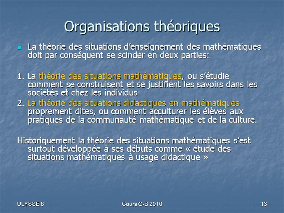 Organisations théoriques