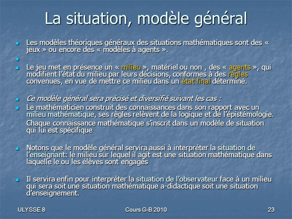 La situation, modèle général